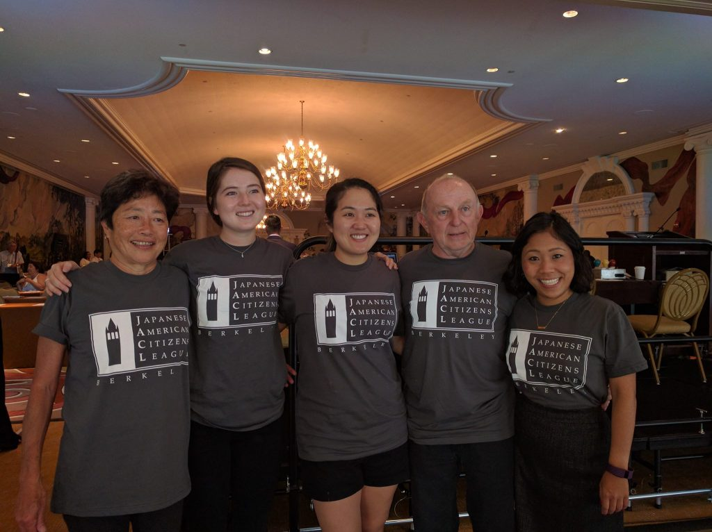 Photo of Berkeley JACL members in our chapter t-shirts